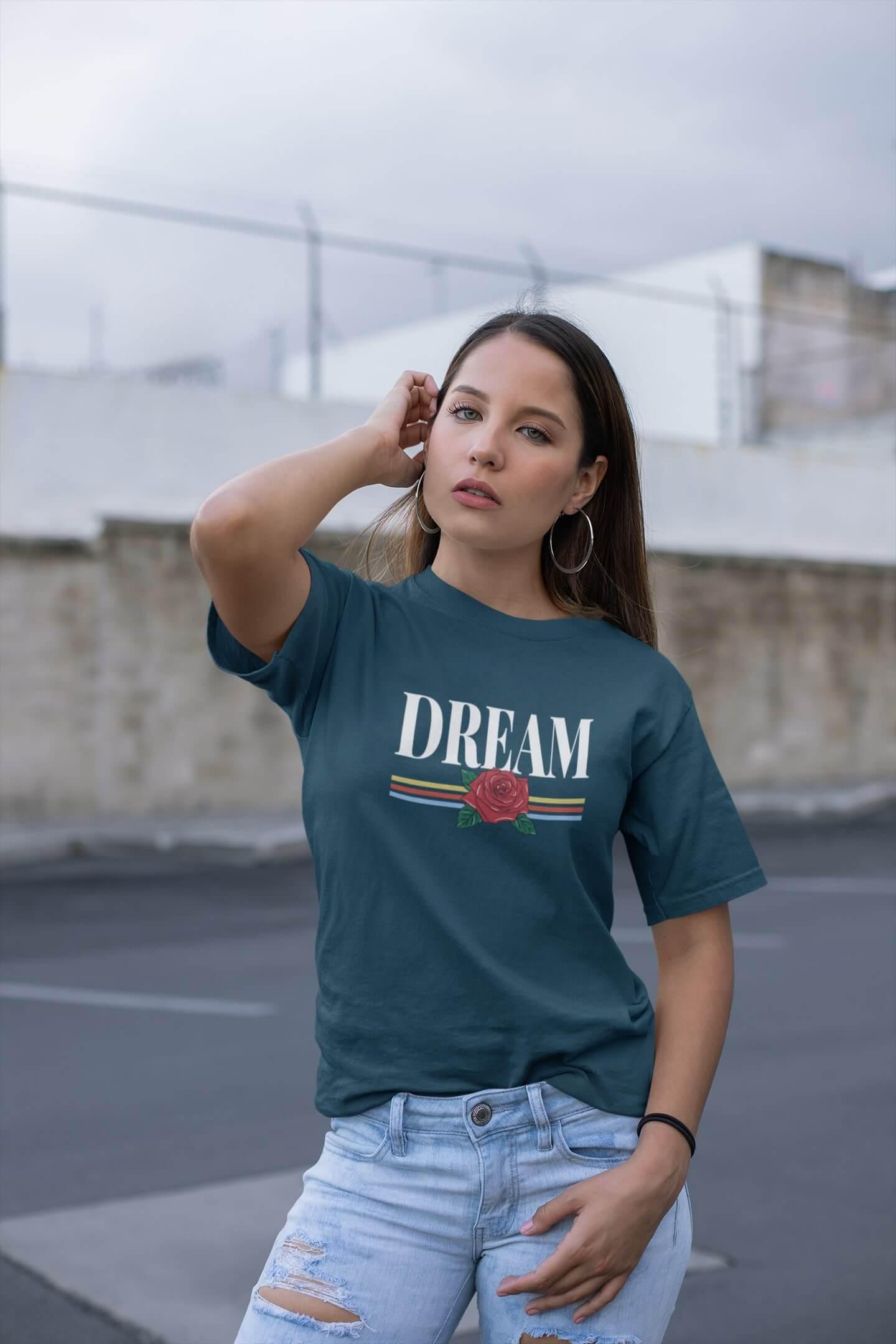 MMO Dámske tričko Dream Vyberte farbu: Petrolejová modrá, Vyberte veľkosť: M