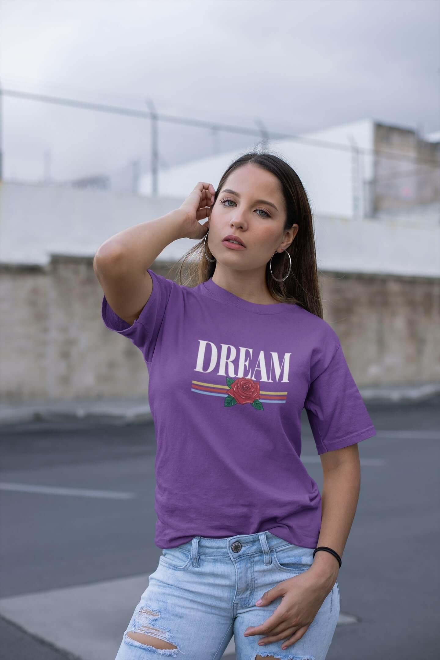 MMO Dámske tričko Dream Vyberte farbu: Fialová, Vyberte veľkosť: M
