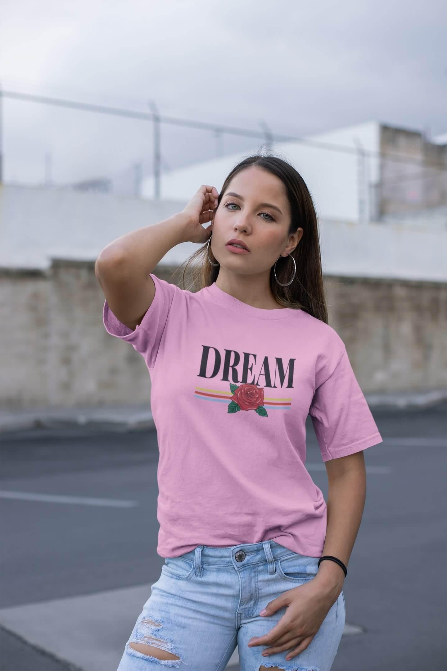 MMO Dámske tričko Dream Vyberte farbu: Ružová, Vyberte veľkosť: M