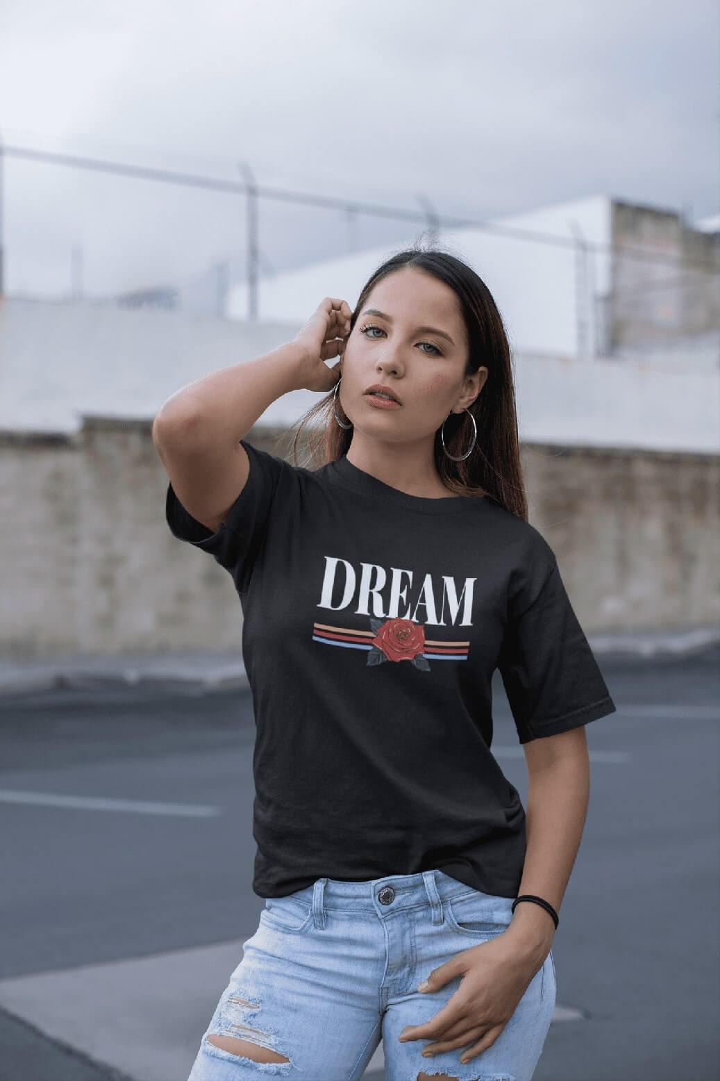 MMO Dámske tričko Dream Vyberte farbu: Čierna, Vyberte veľkosť: M