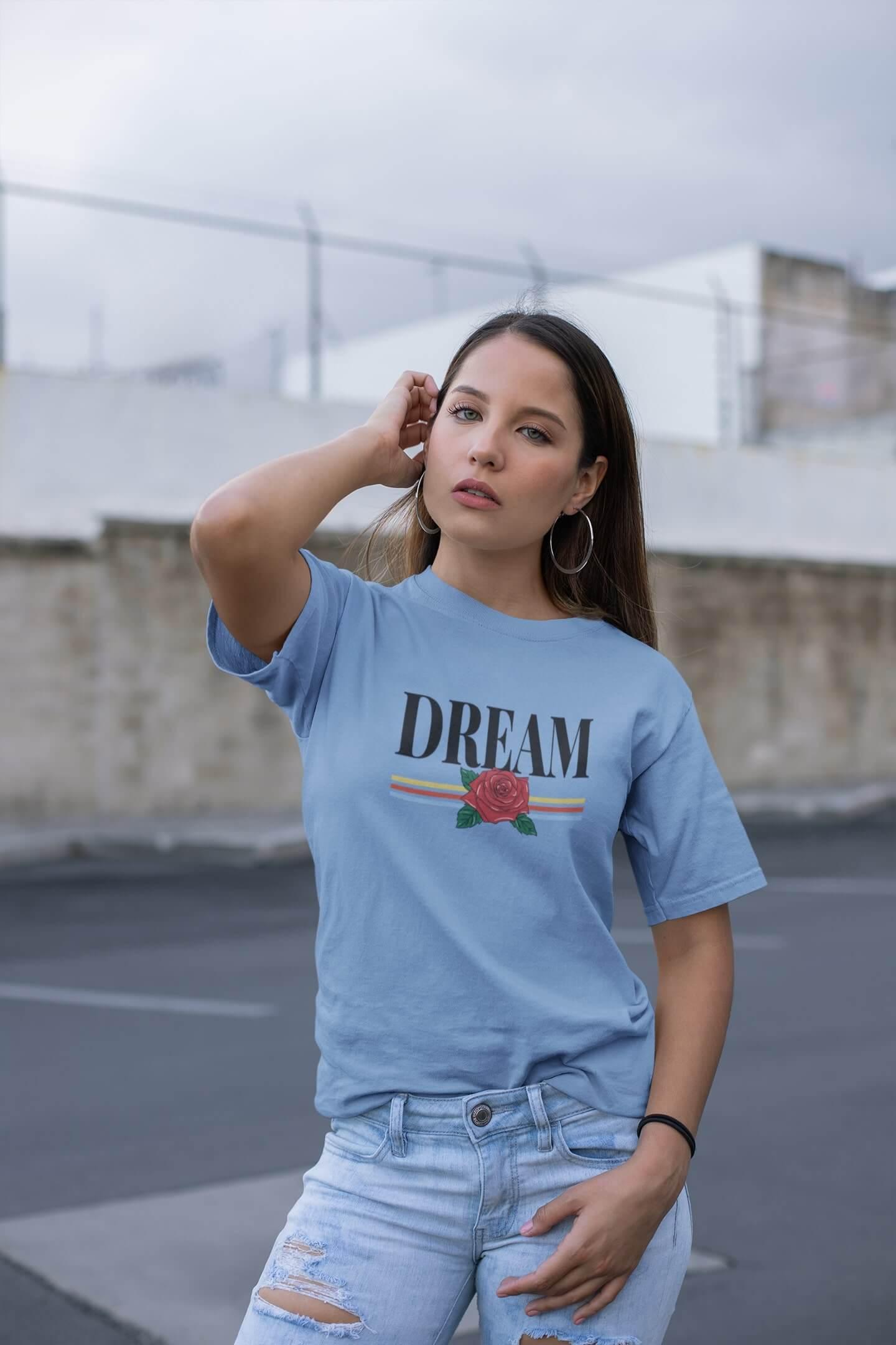 MMO Dámske tričko Dream Vyberte farbu: Svetlomodrá, Vyberte veľkosť: M