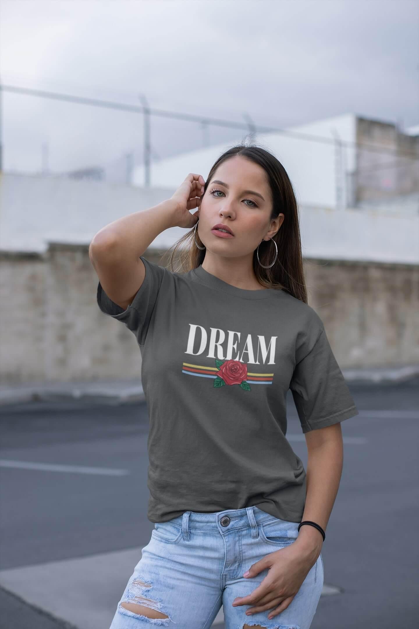 MMO Dámske tričko Dream Vyberte farbu: Tmavá bridlica, Vyberte veľkosť: L
