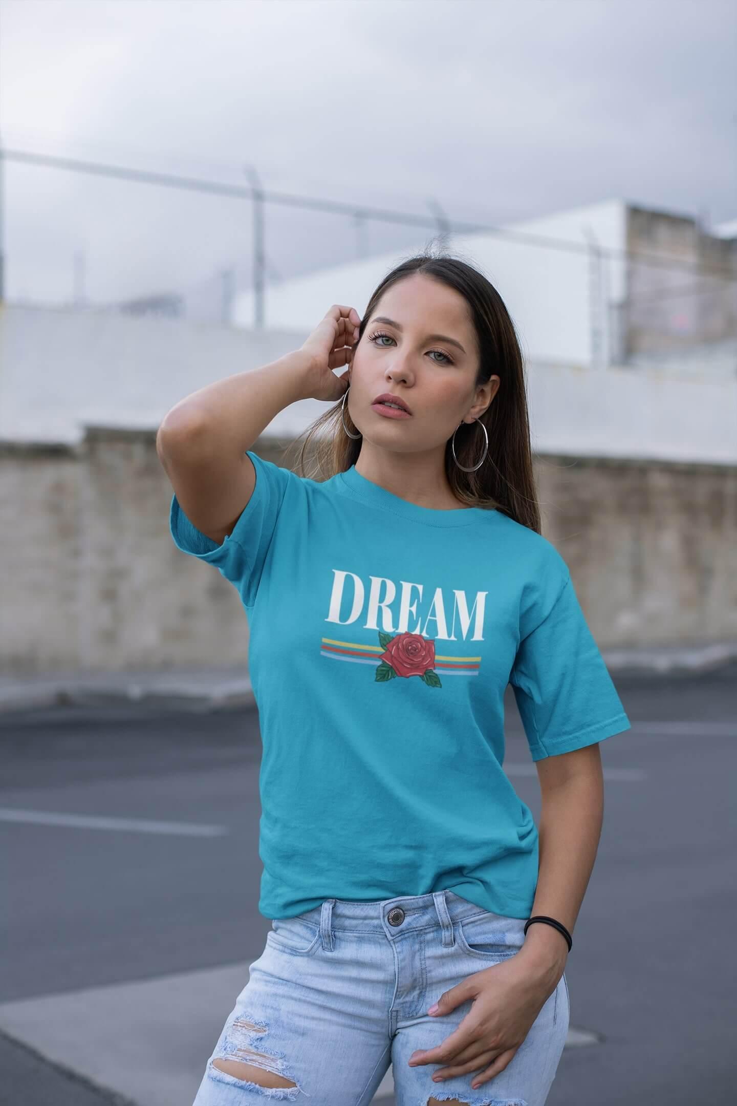 MMO Dámske tričko Dream Vyberte farbu: Tyrkysová, Vyberte veľkosť: M