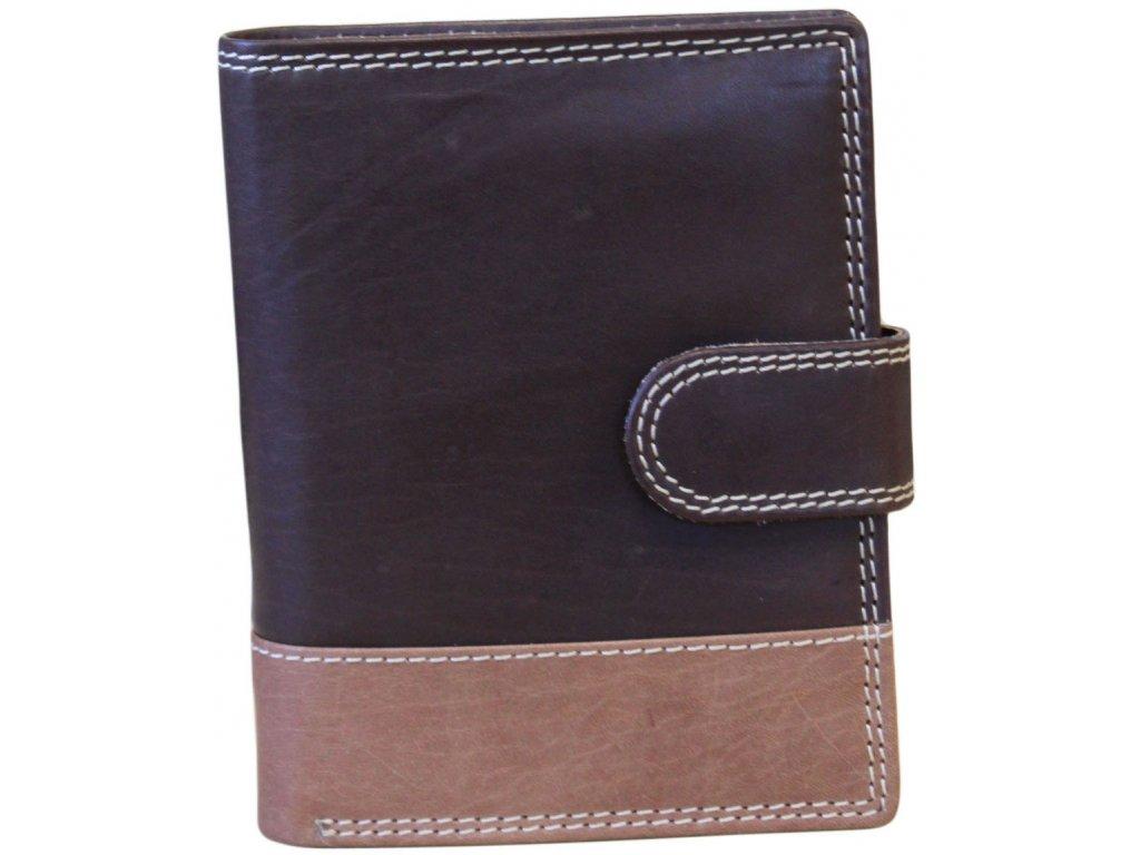 Pánská kožená peněženka JBNC 36 MNC hnědo/TAN