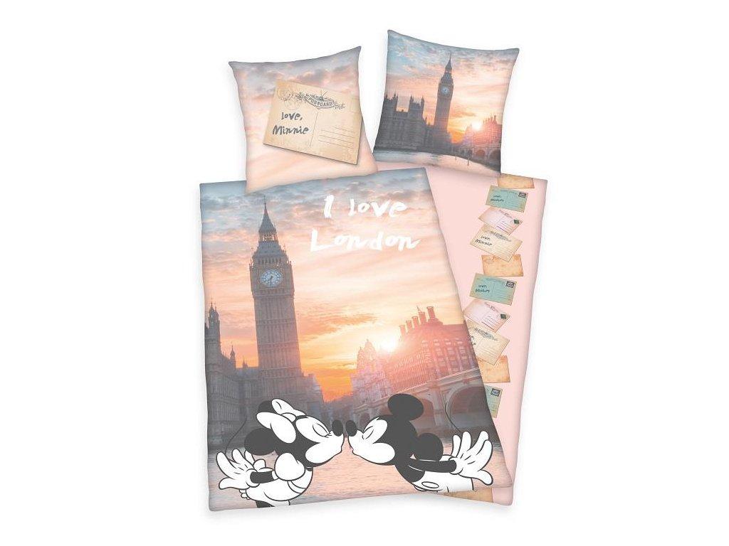 HERDING Povlečení I LOVE LONDON 140X200+70X90