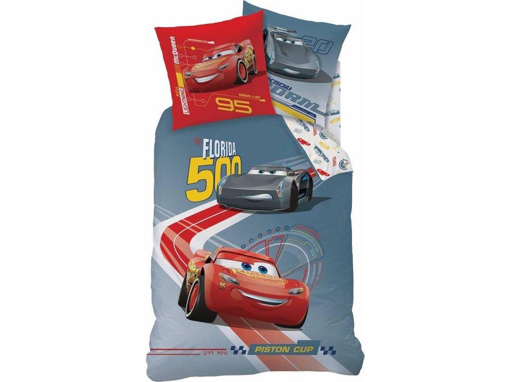 CTI DĚTSKÉ POVLEČENÍ CARS RACE 140X200/63X63