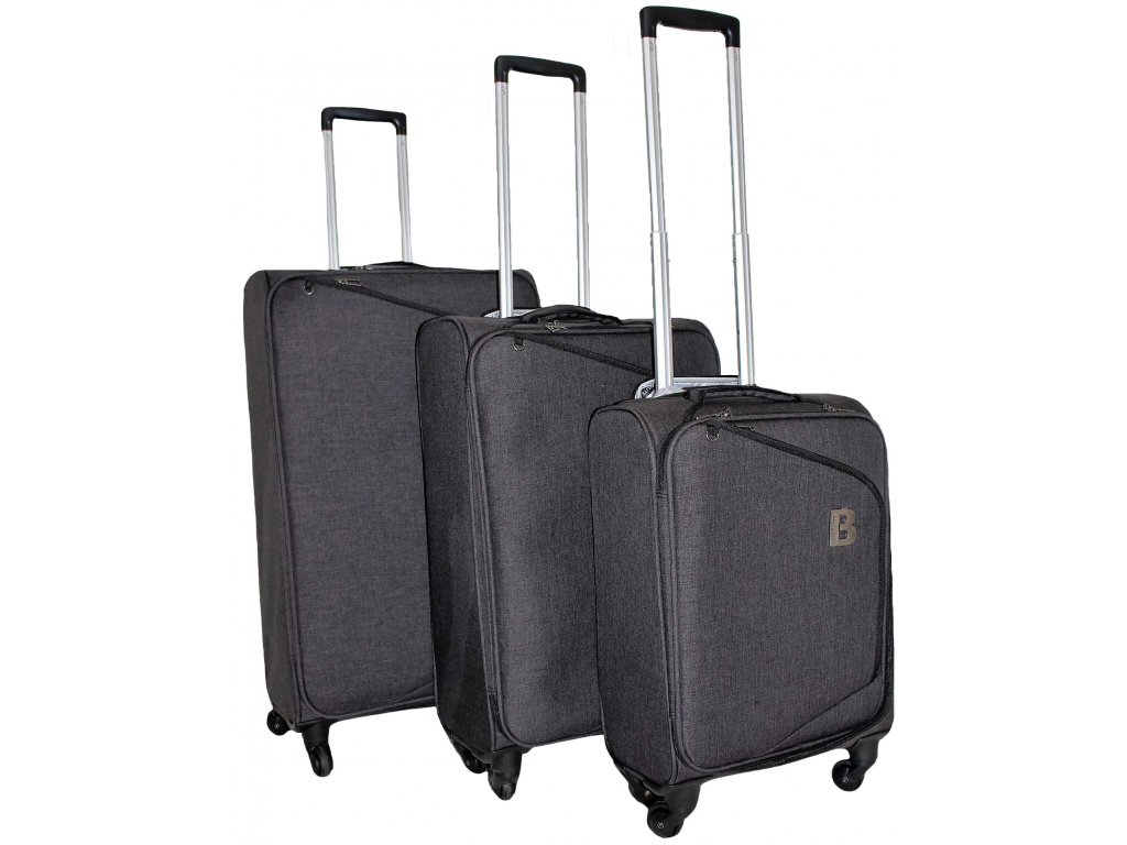 Sada 3 super lehkých kufrů - JB2008 - BLACK