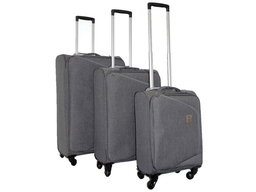 Sada 3 super lehkých kufrů - JB2008 - GREY