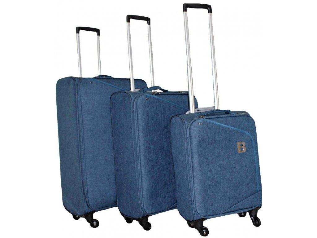 Sada 3 super lehkých kufrů - JB2008 - NAVY
