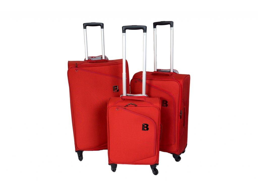 Sada 3 super lehkých kufrů - JB2008 - RED