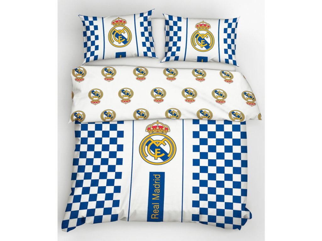 Bavlněné povlečení Real Madrid Check 220x200 cm