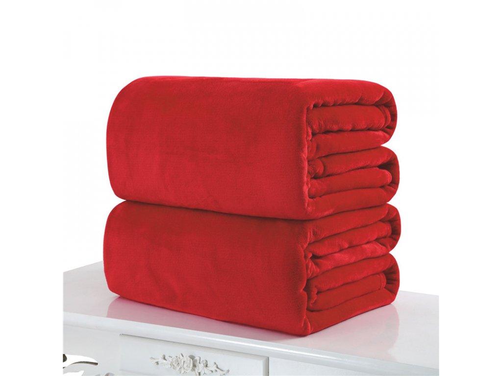 Aaryans deka mikroflanel 150x200cm červená