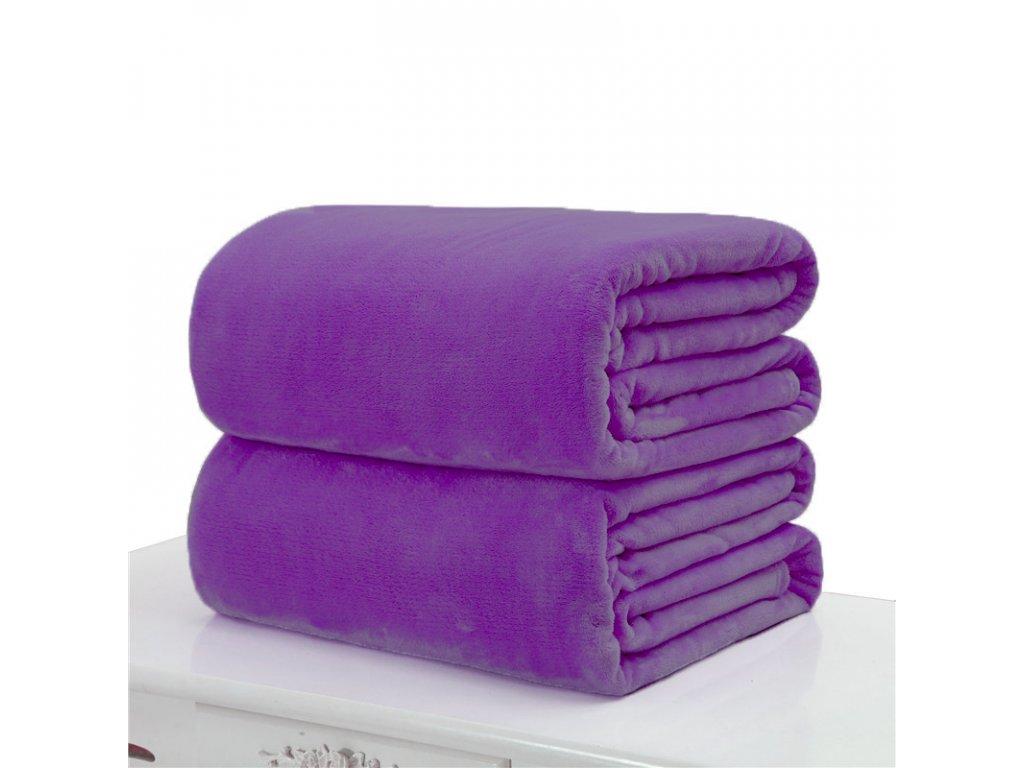 Aaryans deka z mikroflanelu 150x200cm tmavě fialová