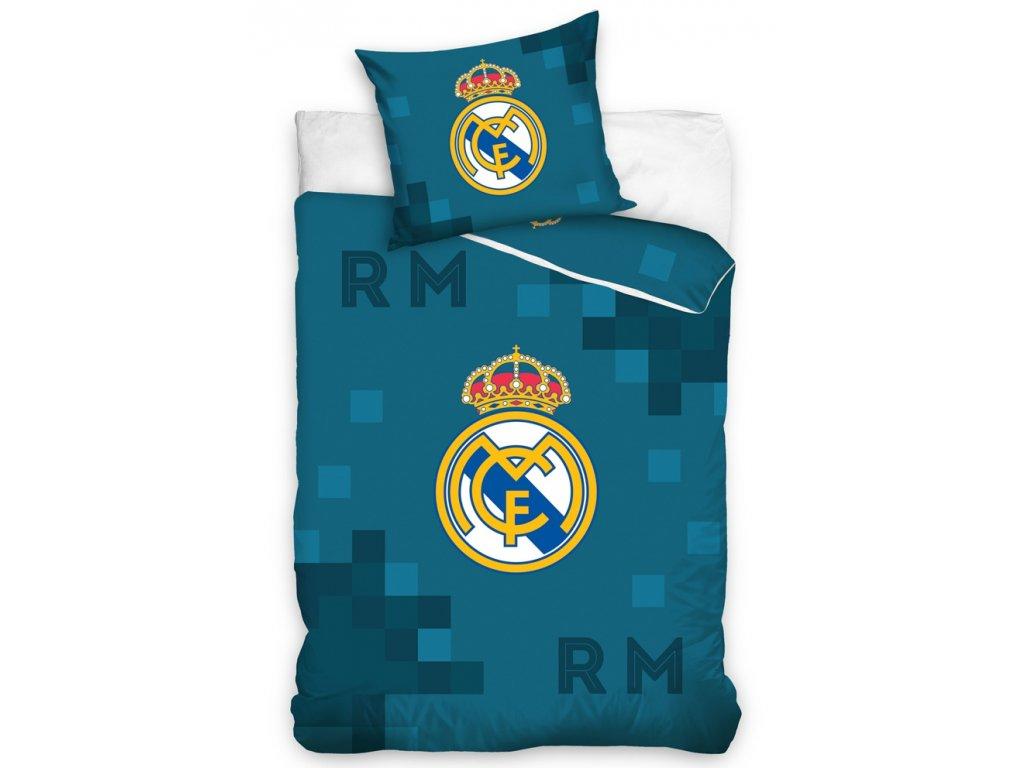 Bavlněné povlečení Real Madrid Dados Blue 135x200/80x80