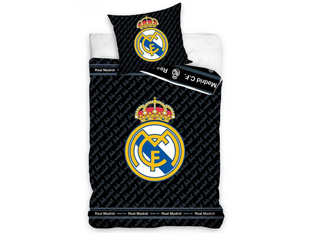 Bavlněné povlečení Real Madrid BLUE LETTERS 135x200/80x80