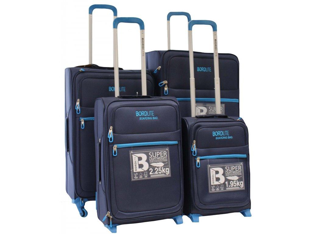 Sada 4 super lehkých 2 kolových kufrů - JB 2015 NAVY/BLUE
