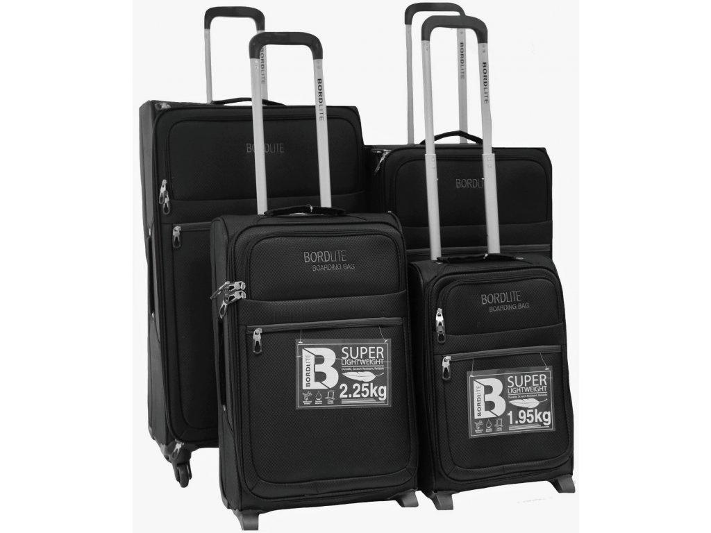Sada 4 super lehkých 2 kolových kufrů - JB 2015 BLACK/GREY