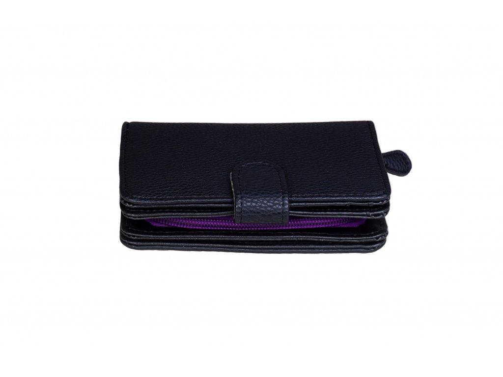 Dámská peněženka JBPS 137 ČERNO/FIALOVÁ