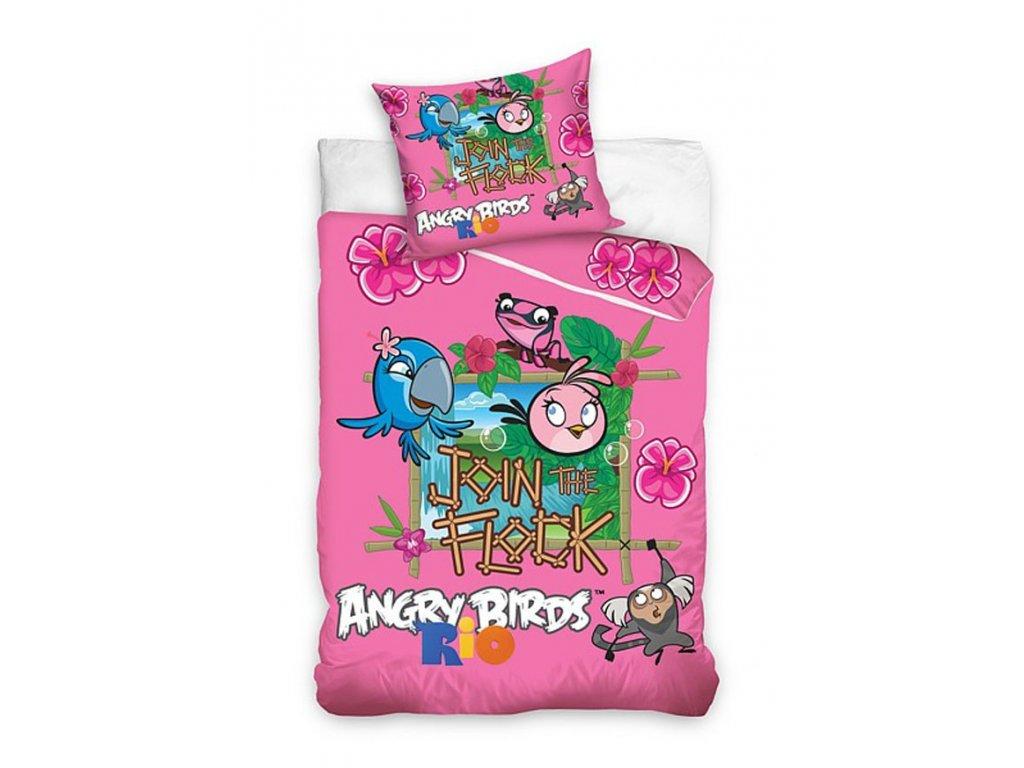 Carbotex Bavlněné povlečení Angry Birds STELLA 140x200/70x80