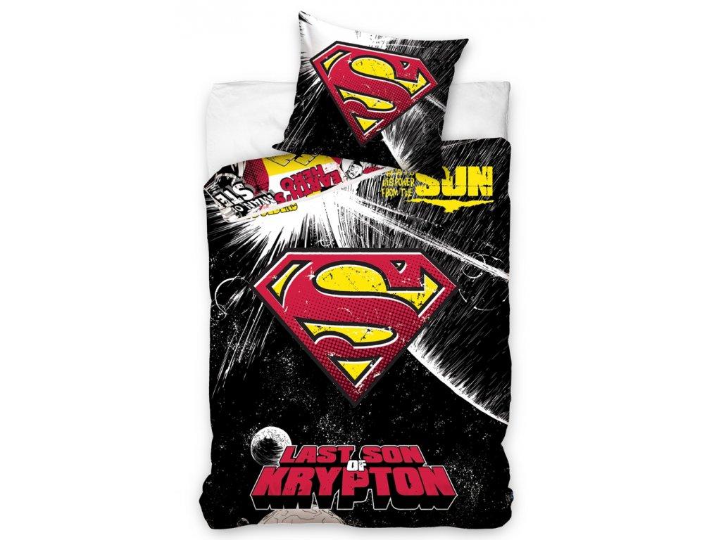 Carbotex Povlečení Superman Black 140x200/70x80