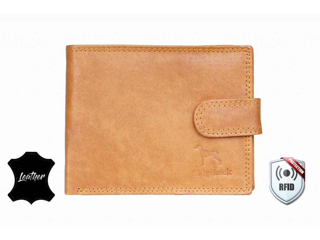Kožená peněženka s ochranou RFID - JBNC 48 MN- TAN