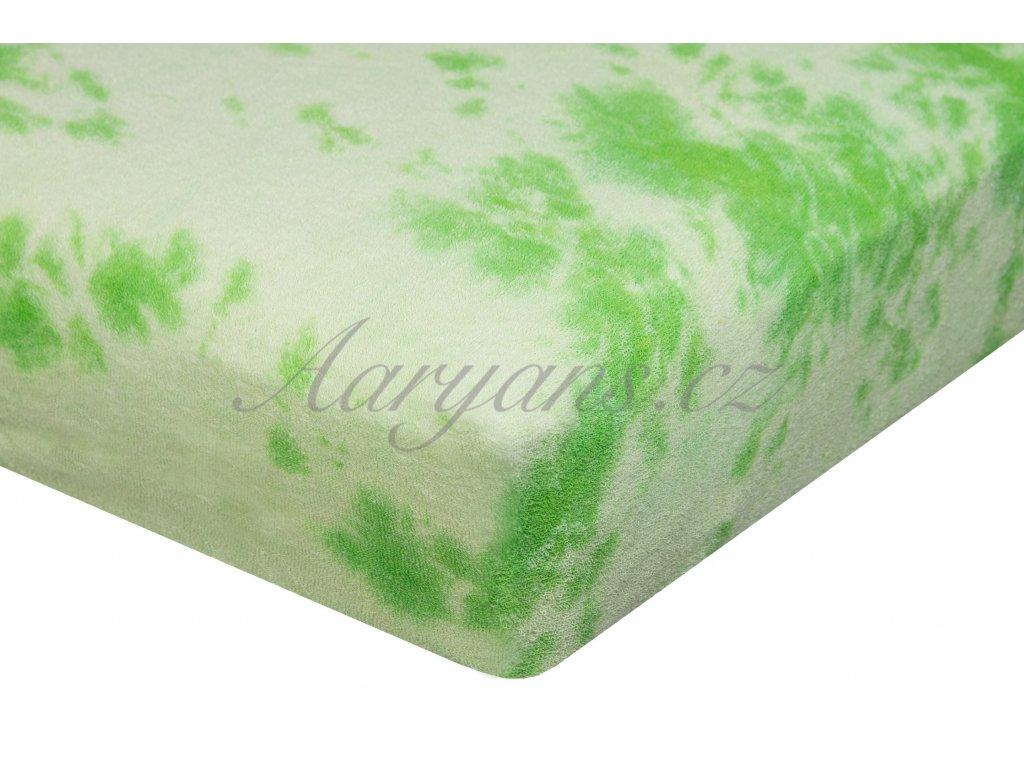 Aaryans Batikované prostěradlo froté zelené