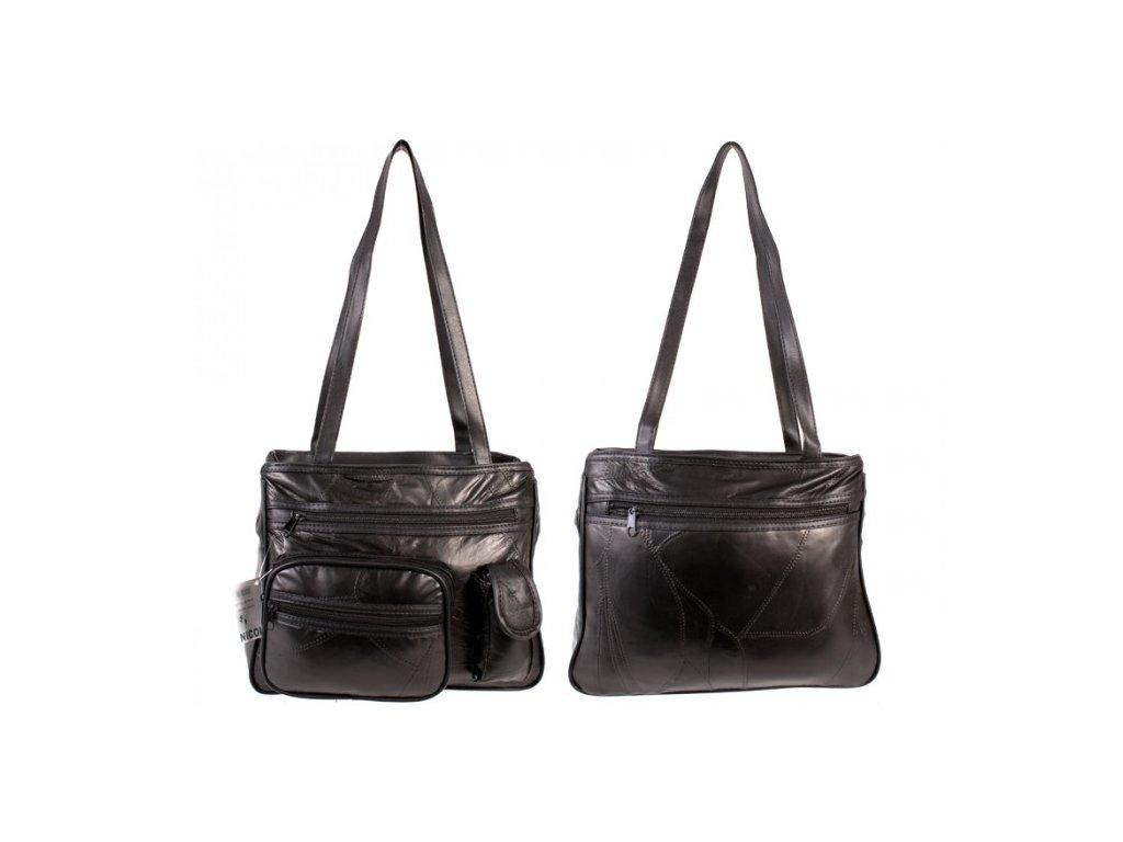 Dámská kožená kabelka JBLHB 16 ČERNÁ