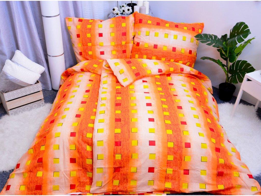Aaryans bavlněné povlečení Karla oranžové 140x200/70x90cm