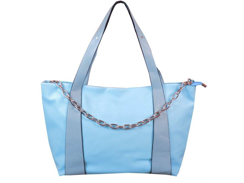 Prostorná kabelka 8293 modrá