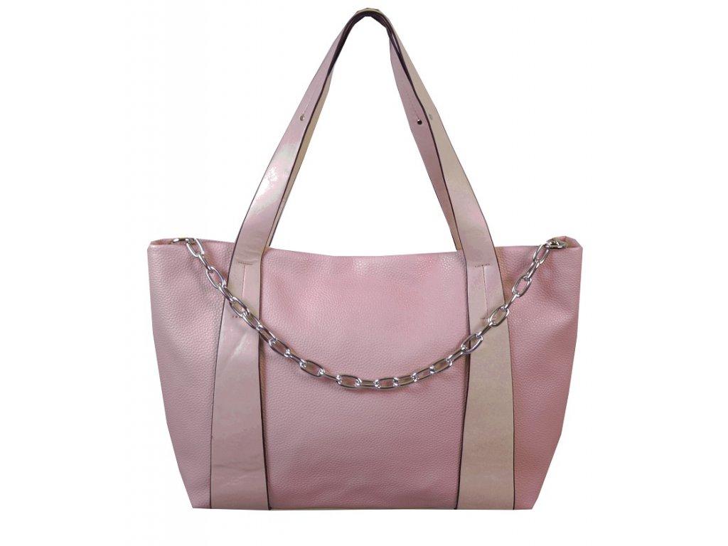 Prostorná kabelka 8293 růžová