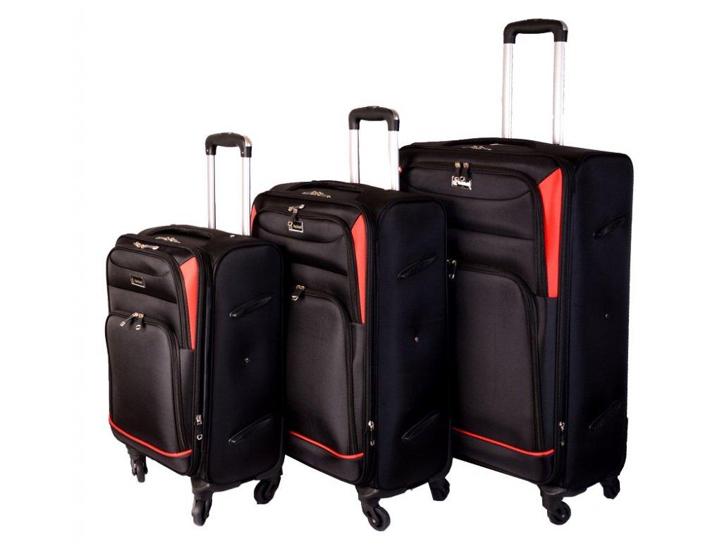 SADA 3 KUFRŮ 308 černá/červená