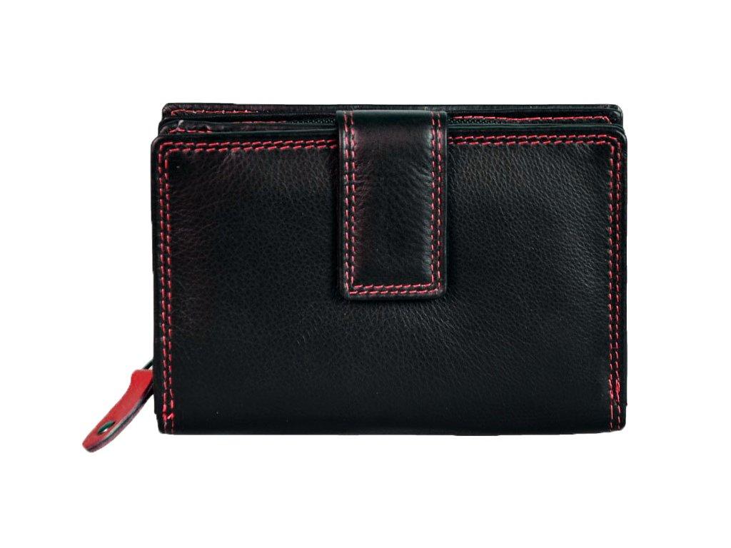Dámská kožená peněženka s ochranou RFID JBPL 06C- černá/červená