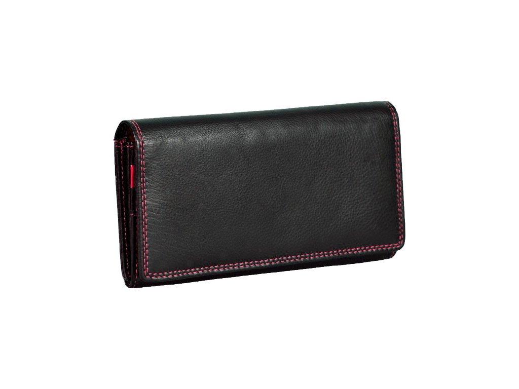 Dámská kožená peněženka s ochranou RFID JBPL 07C- černá/červená