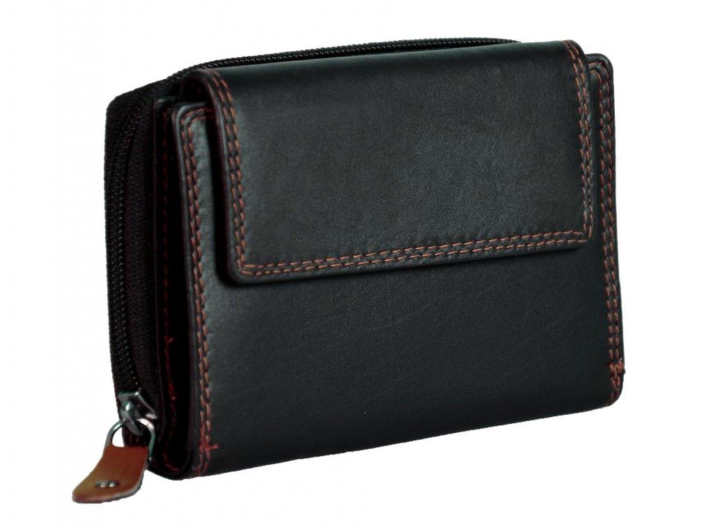 Dámská kožená peněženka s ochranou RFID JBPL 02C- černá/TAN