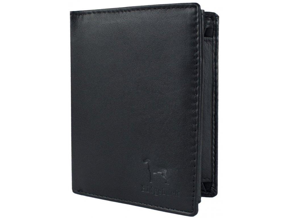 Kožená pánská peněženka JBNC 36 MN ČERNÁ, s RFID ochranou