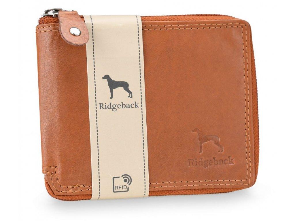 Kožená pánská peněženka JBNC 38 MN TAN, s RFID ochranou