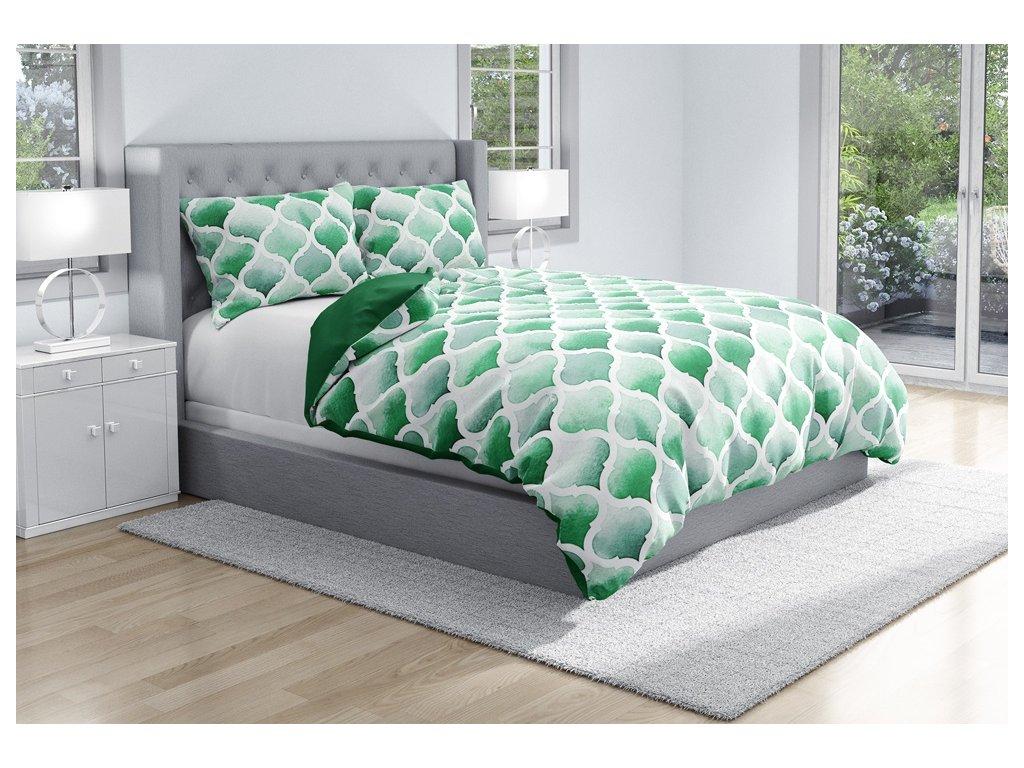 Bavlněné povlečení Emerald Zelené 140x200/70x90