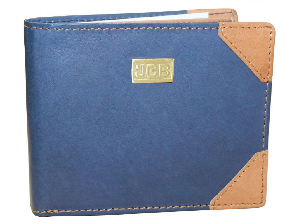 Kožená peněženka s ochranou RFID - JCBNC 56 modrá