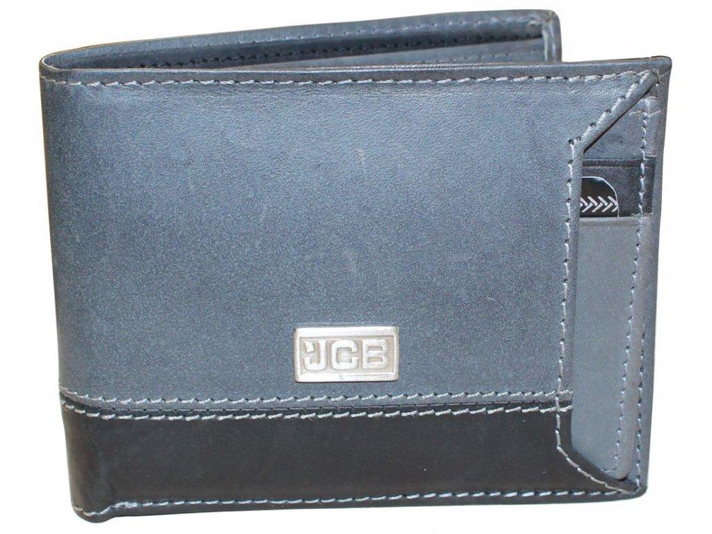 Kožená peněženka s ochranou RFID - JCBNC 55 šedá