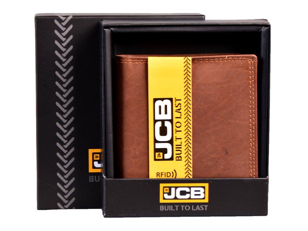 Kožená peněženka s ochranou RFID - JCBNC 37MN- TAN