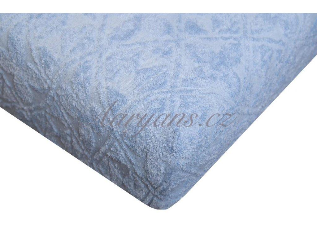 Aaryans Prostěradlo žakár 200 x 220 cm modré