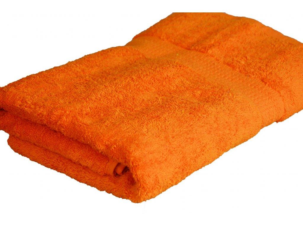 Froté ručník SPRING , 50x100 cm, oranžový