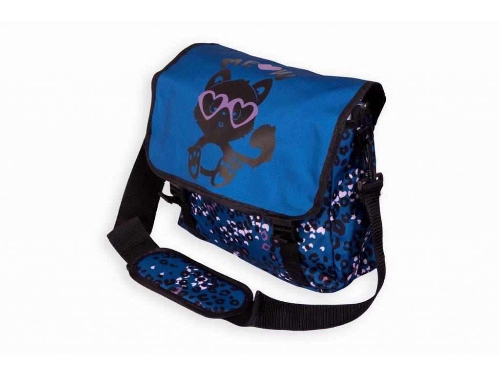 Taška přes rameno JBCB 107 Meow/modrá