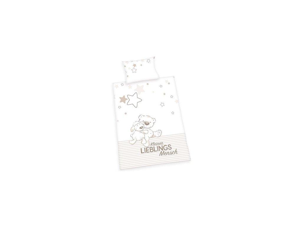 Herding Flanelové povlečení do postýlky LIEBLING 40X60/100X135CM