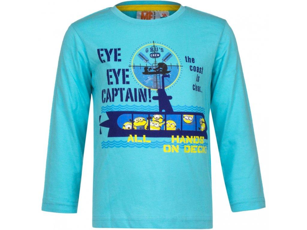 Dětské bavlněné tričko MIMONI EP 1579 - vel. 98 cm - TYRKYS