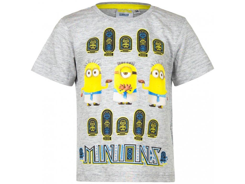 Dětské bavlněné tričko MIMONI EP 1578 - vel. 116 cm - ŠEDÉ