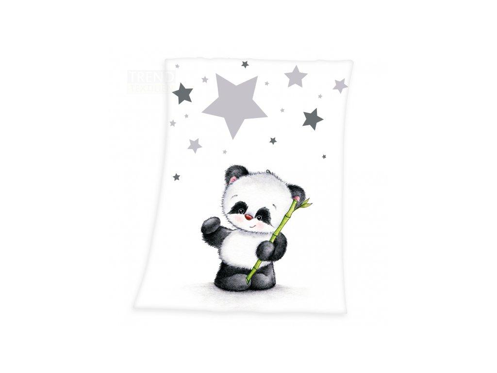 HERDING Flísová deka Panda hvězdičky 75x100cm