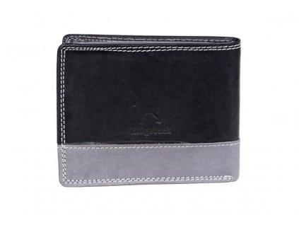 Pánská kožená peněženka JBNC 44 MNC černo/šedá