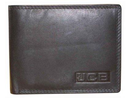 Kožená peněženka s ochranou RFID - JCBNC 44MN - ČERNÁ