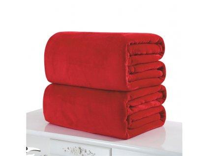 Aaryans deka z mikroflanelu 150x200cm červená